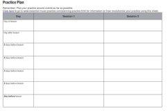 planning practice sheet