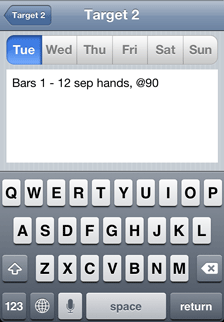 iOS Music Practice App daily practice tasks - Tuesday