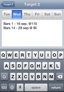 iOS Music Practice App daily practice tasks - Wednesday