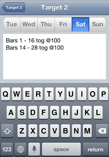 iOS Music Practice App daily practice tasks - Saturday
